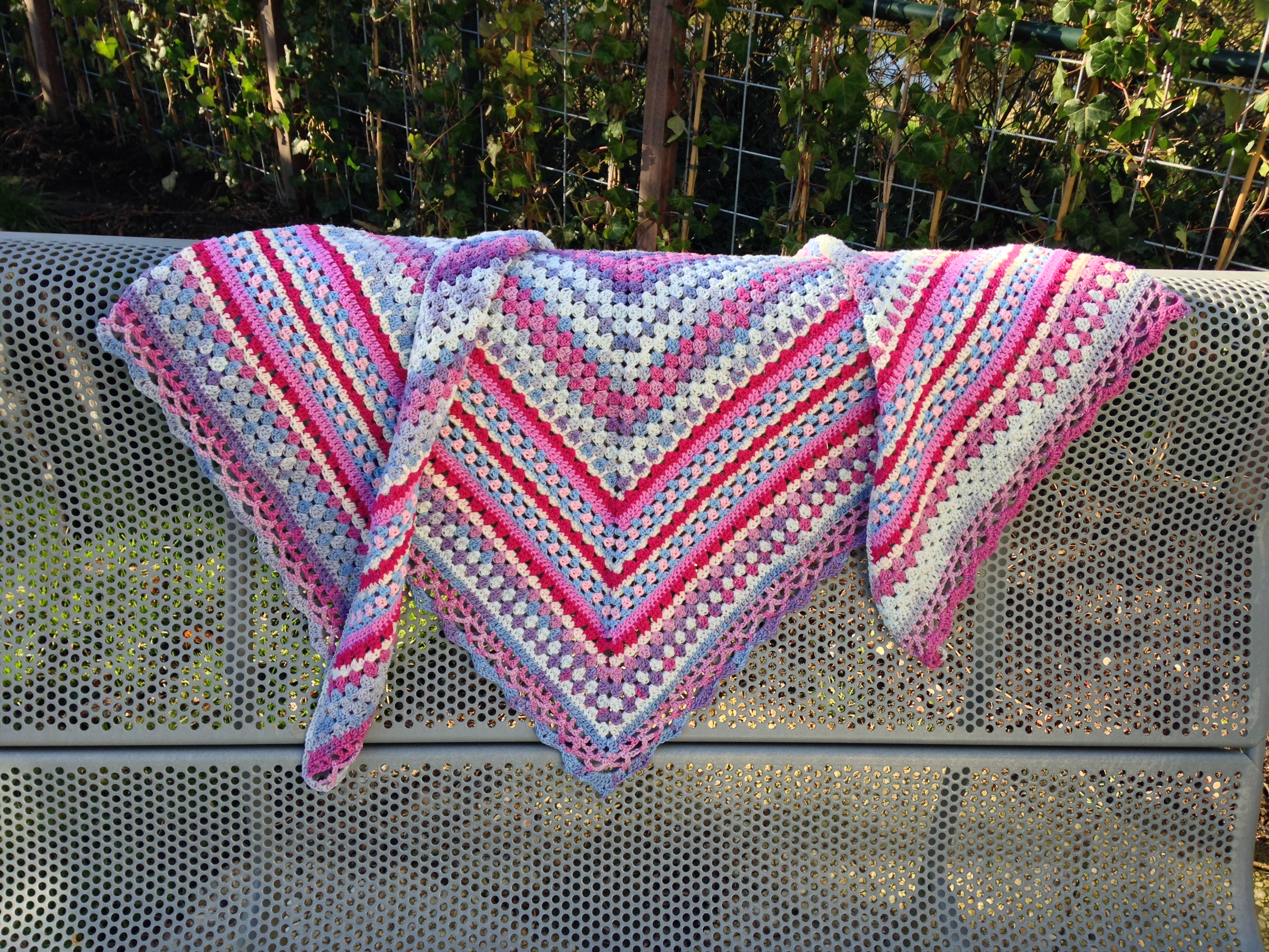 maRRose - CCC, Nordic Shawl - pink/blue