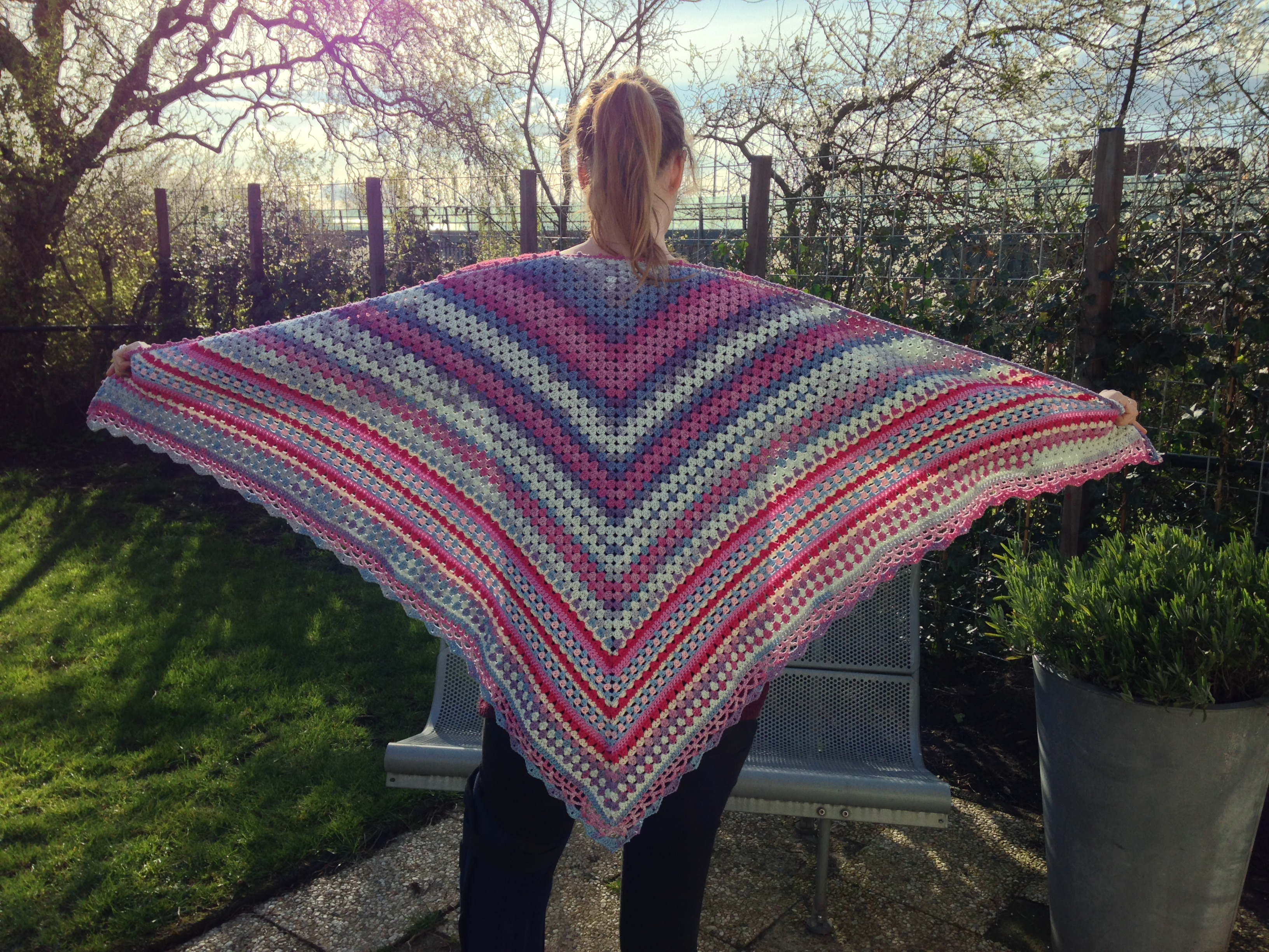 maRRose - CCC: blue/pink Nordic Shawl