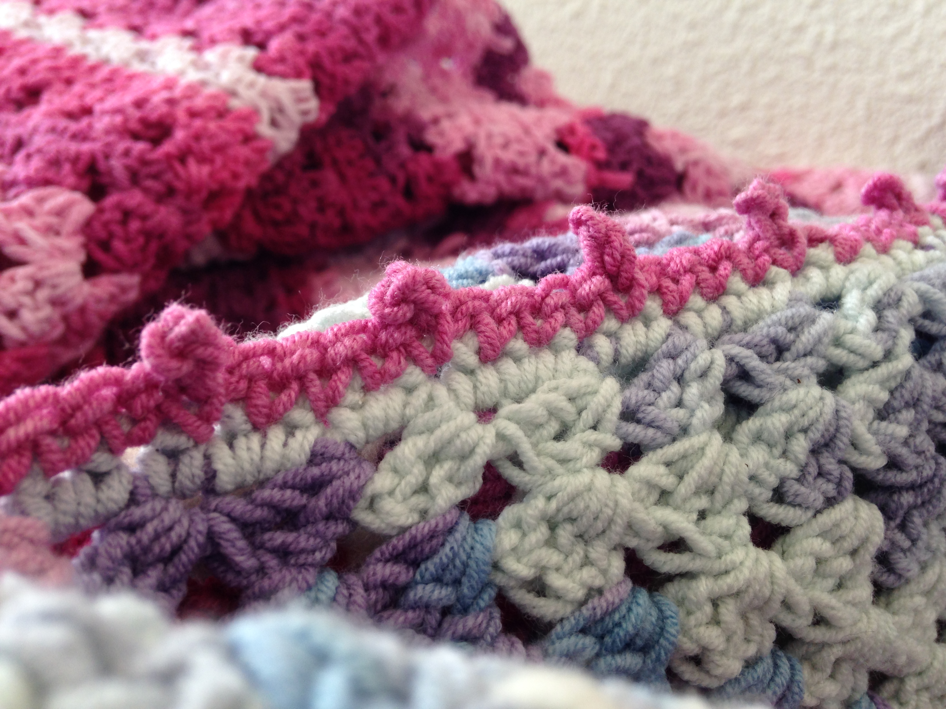 maRRose - CCC: pink/purple and blue/pink Nordic Shawls
