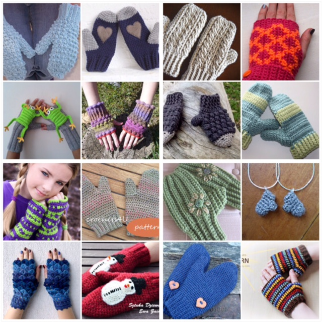 """maRRose - CCC: """"Treasury Tuesday"""", crocheted mittens and fingerless gloves"""