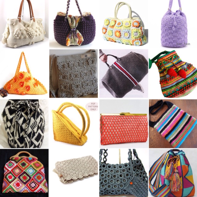 maRRose - CCC: Treasury Tuesday - Crochet Bags & Purses