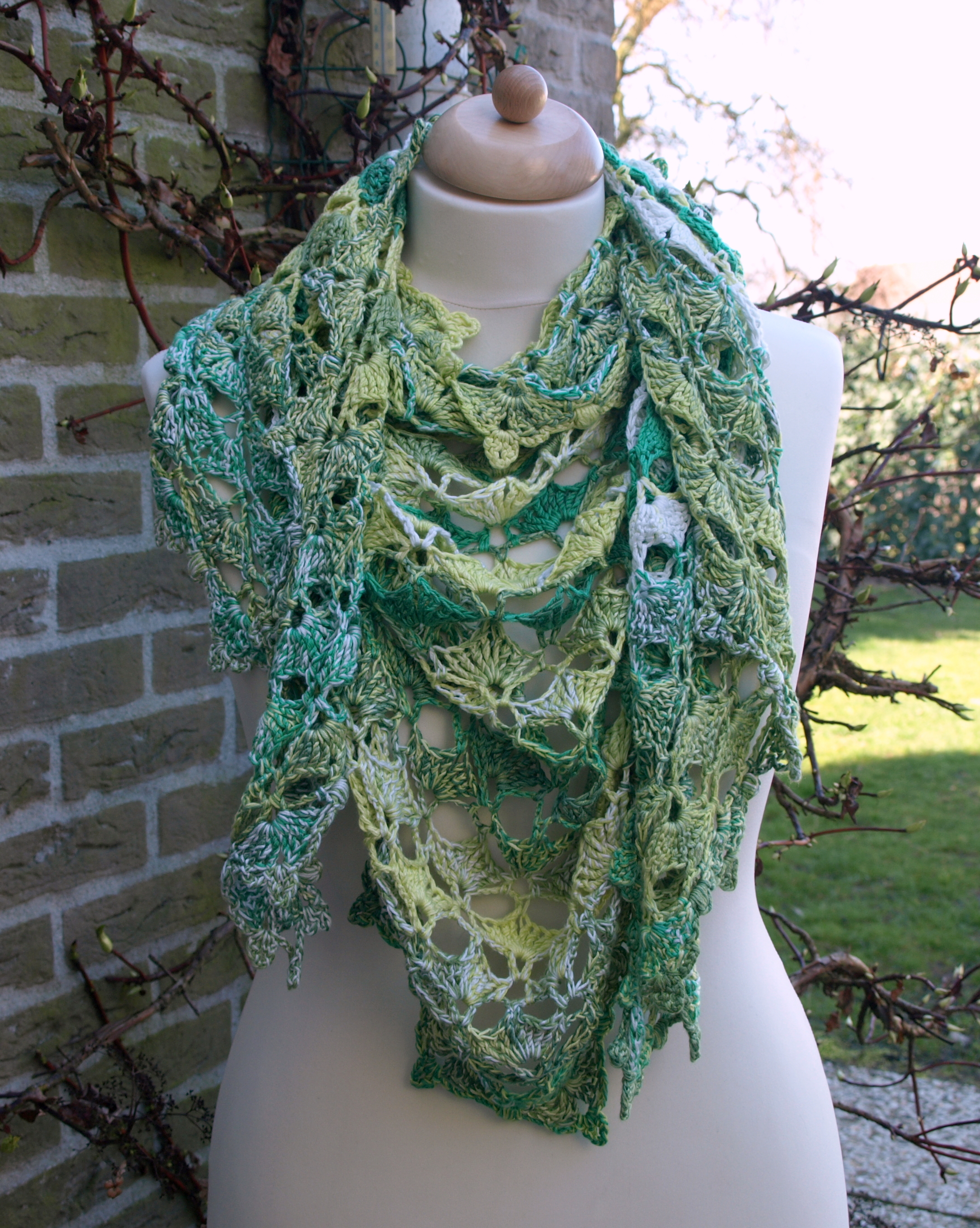 maRRose - CCC - Green summer shawl
