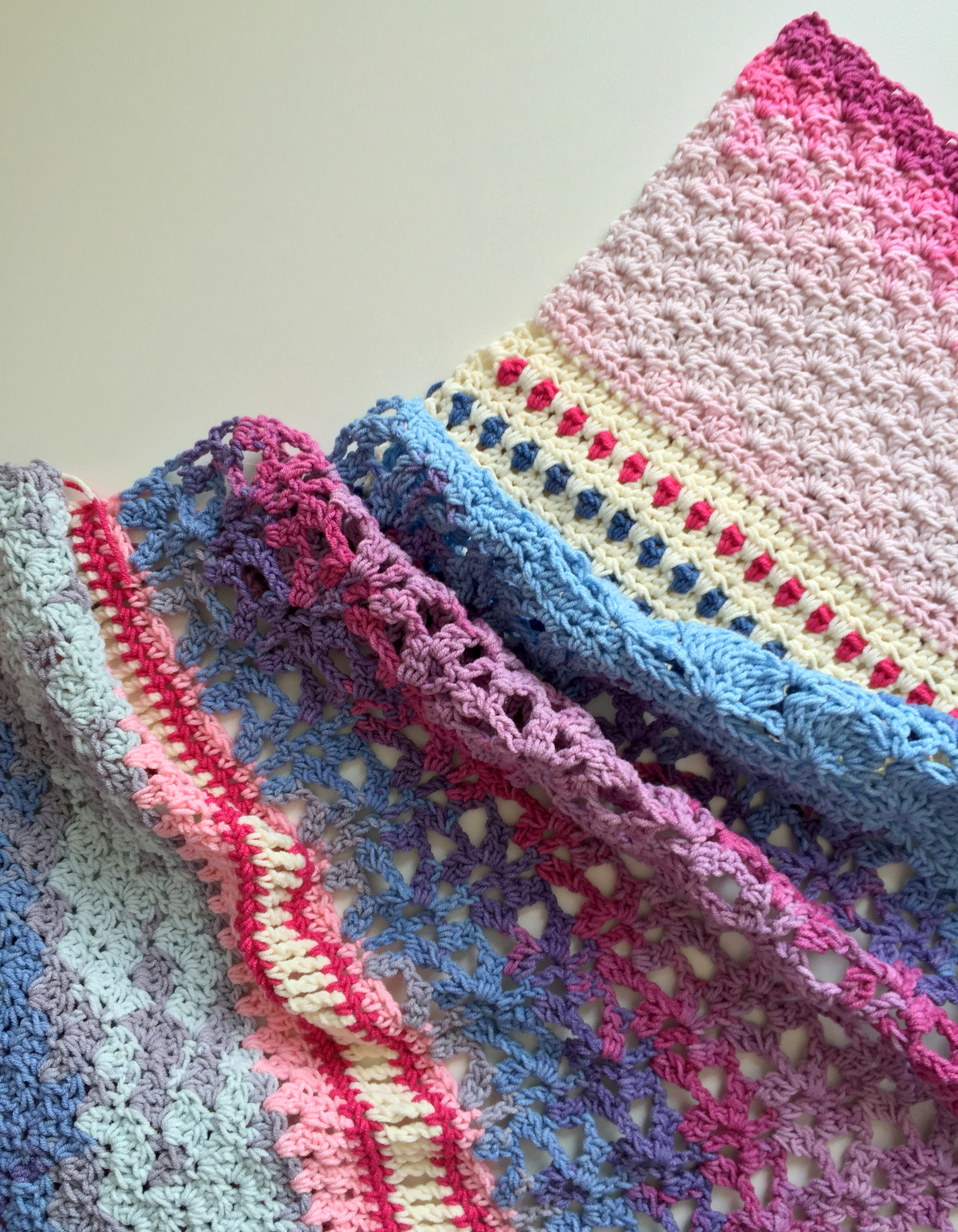 Crocheting Over Ends : ... - The ?Monsoon Stole? maRRose - Colorful Crochet & Crafts