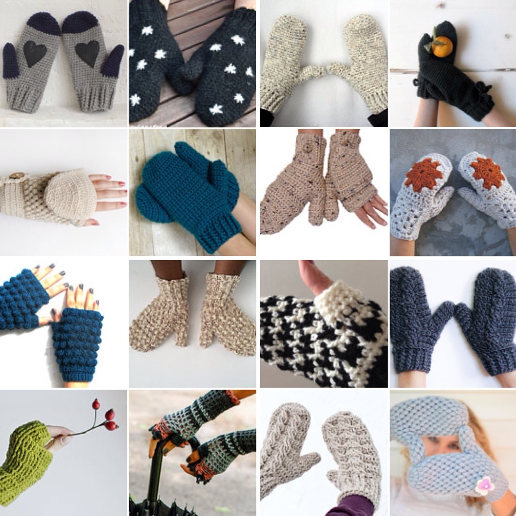 maRRose - CCC --- Treasury Tuesday, Crochet Mittens and Fingerless Gloves-03