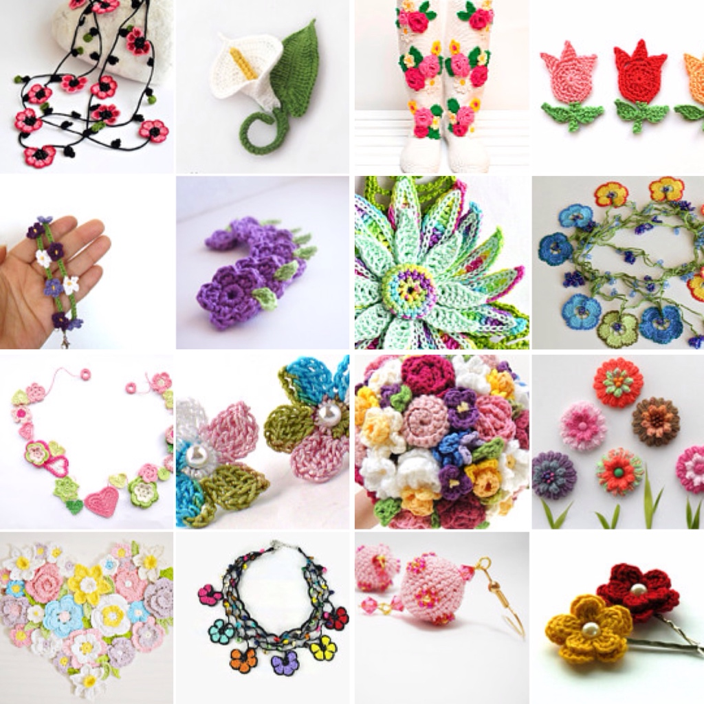 maRRose - CCC --- Treasury Tuesday, Crochet Spring Flowers-03