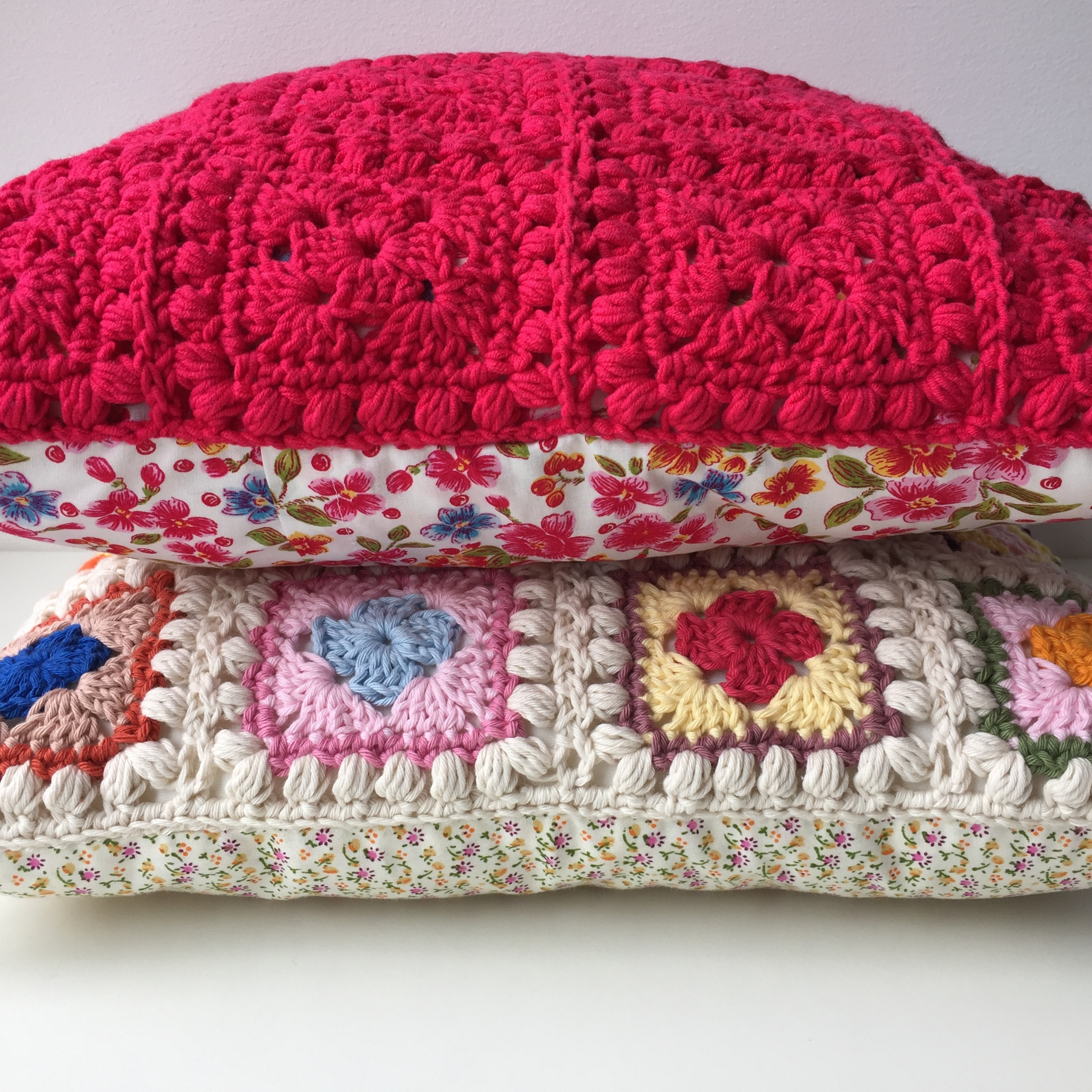 maRRose - CCC --- Bobble Granny Square Cushion-11