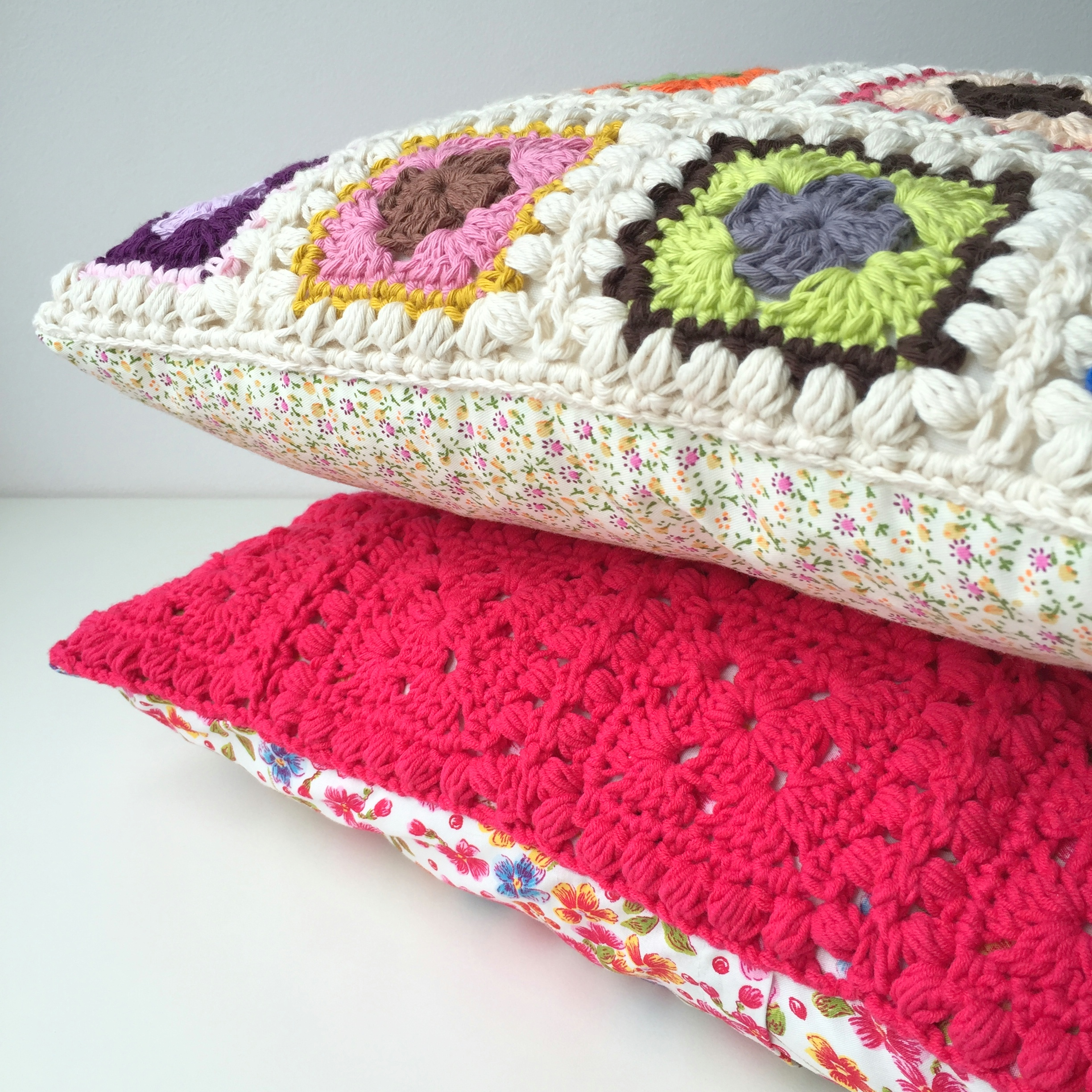 maRRose - CCC --- Bobble Granny Square Cushion-12