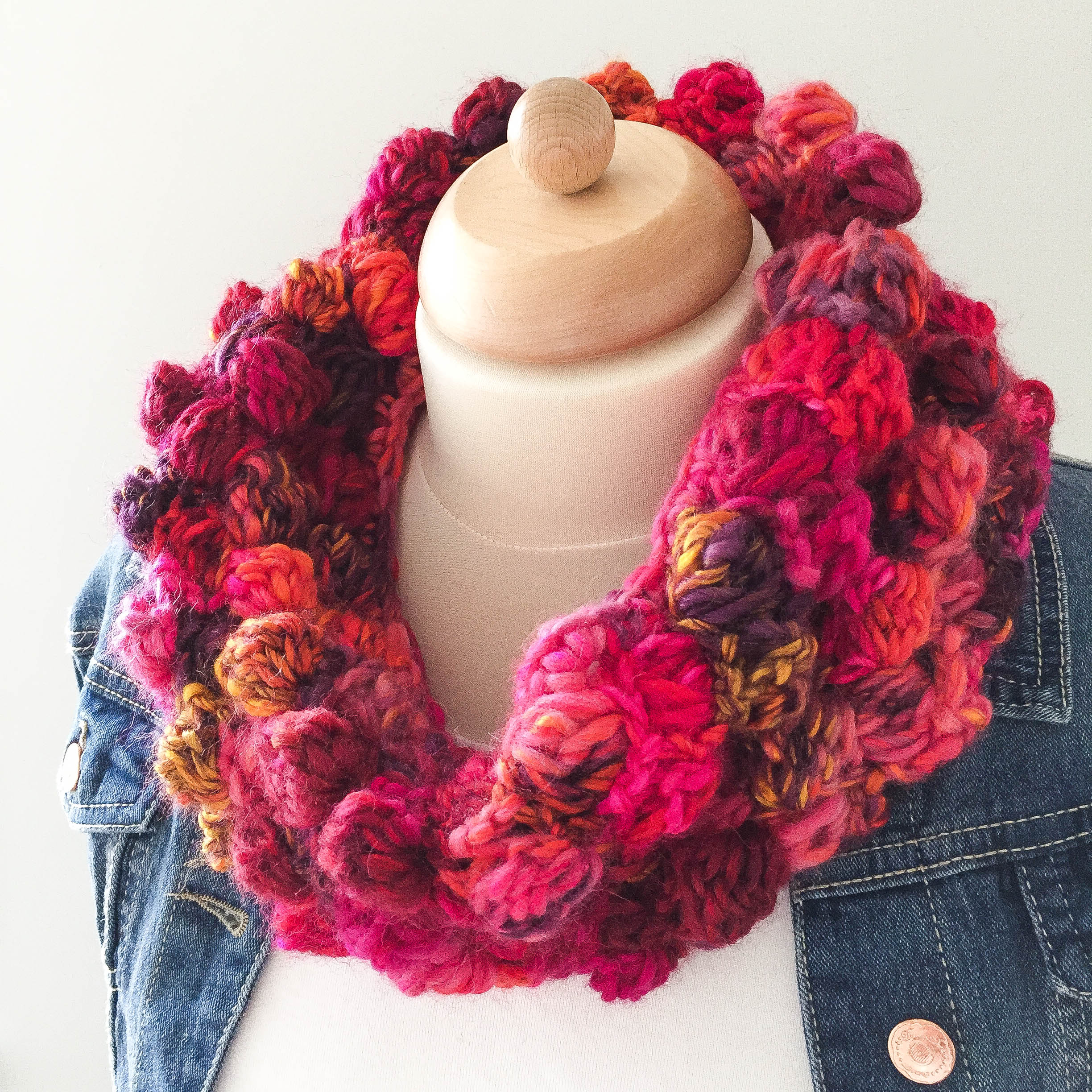 """Big Bobble Cowl"" by Jacqueline"