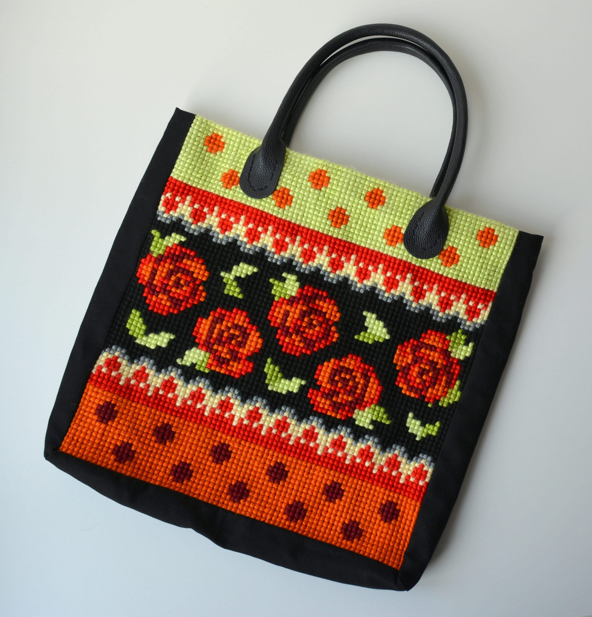 Orchidea Cross Stitch Bag
