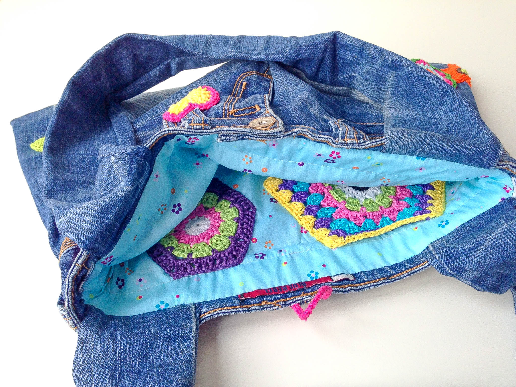 Flower Power Jeans Bag
